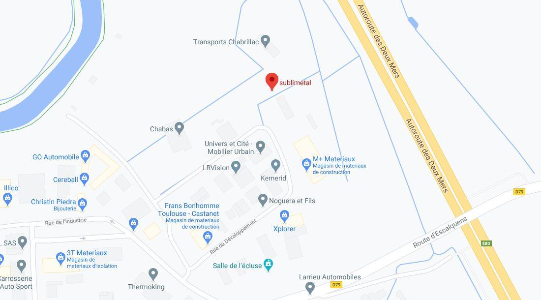 """2 rue des transports 31320 Castanet-Tolosan""""Sublimétal"""