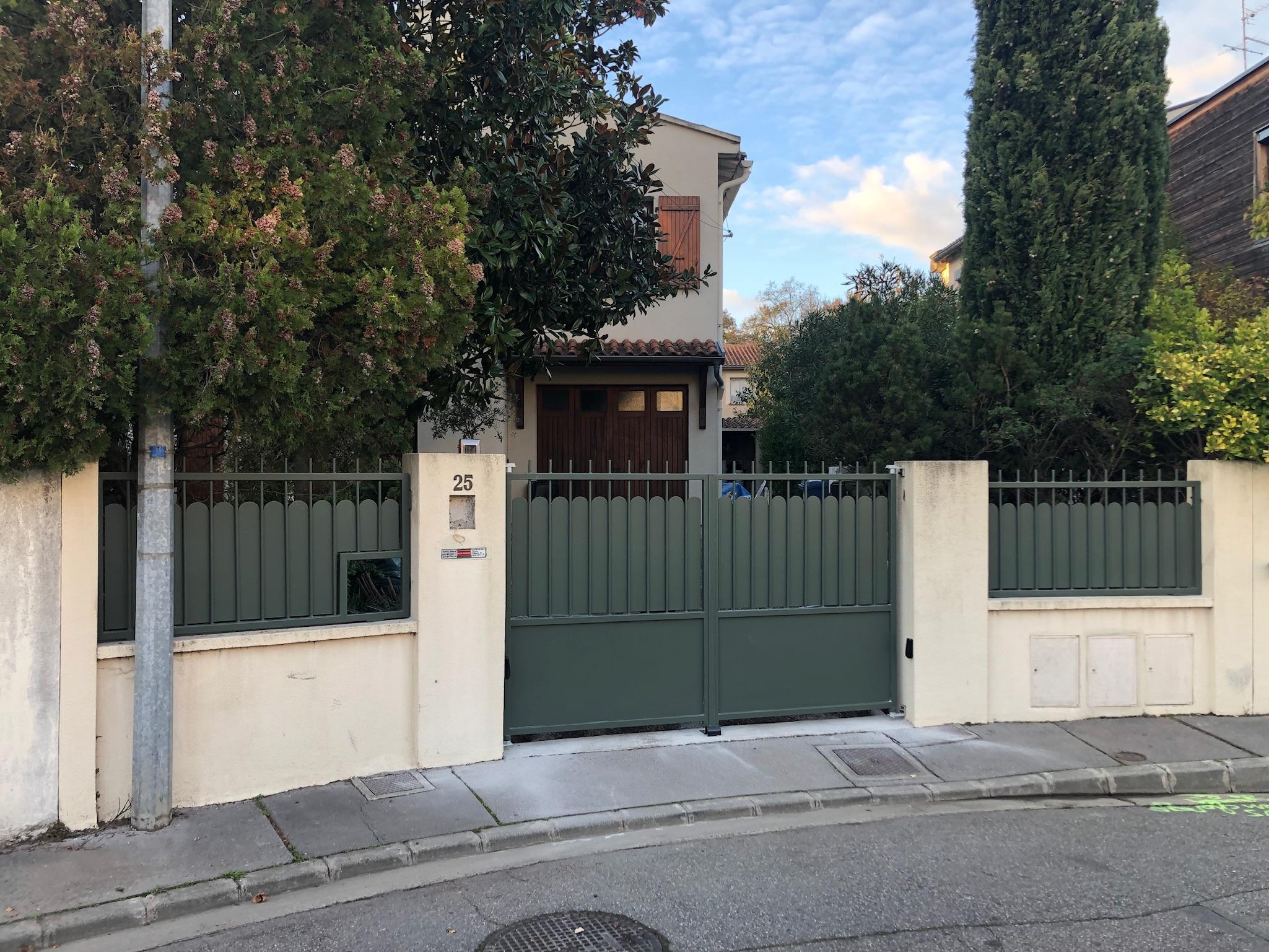 ensemble portail et clôture assortis Sublimétal