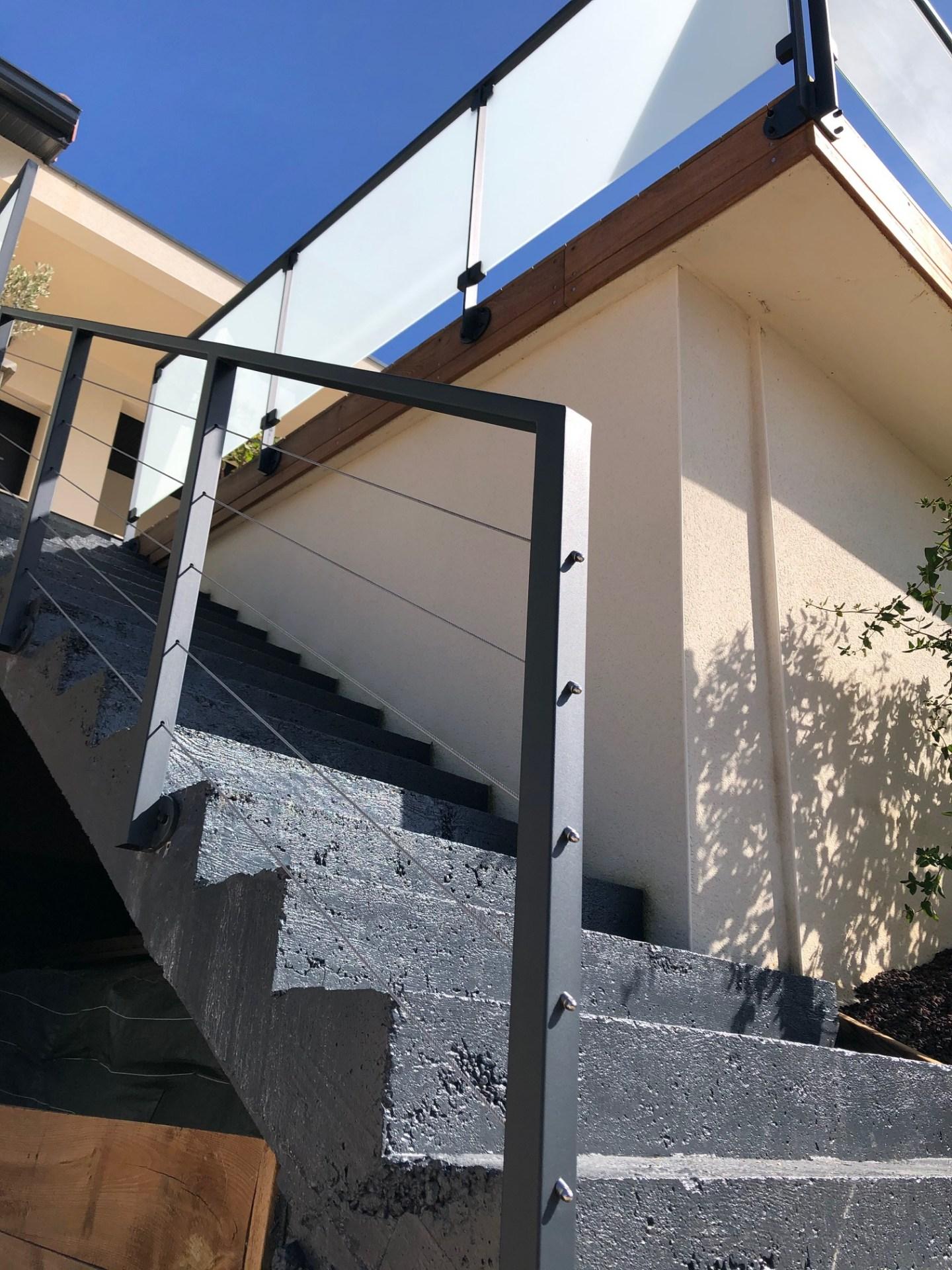 rampe escalier, garde corps métalique, Sublimétal